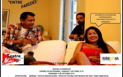 Entre Paredes – Teatro a domicilio – 30/09, 01/10, 02/10